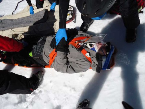 how to get up when snowboarding